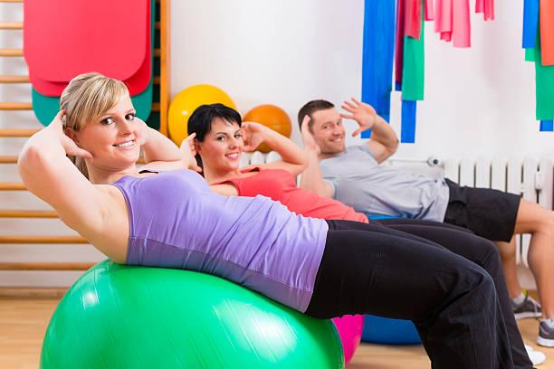 Míče na cvičení