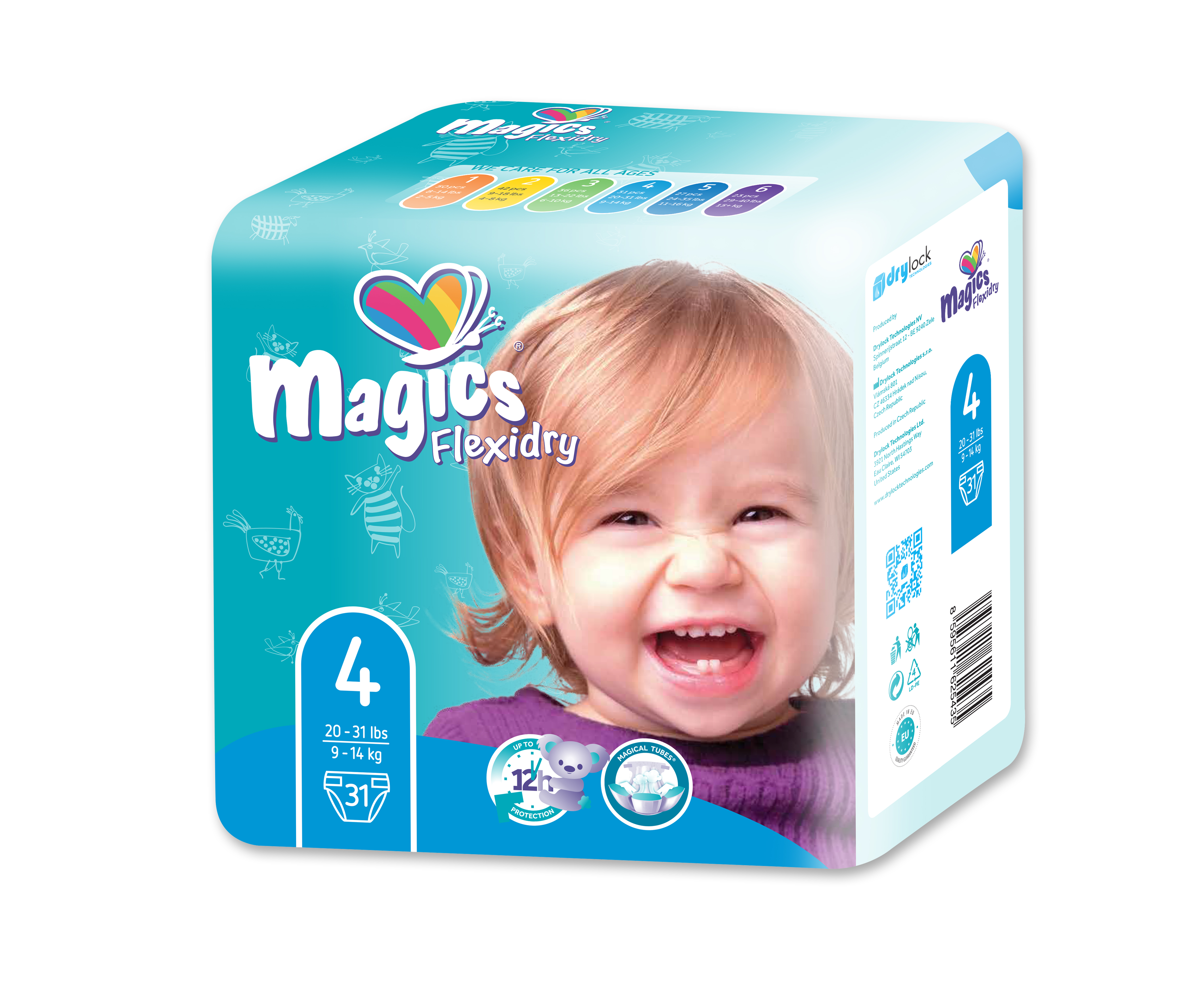 MAGICS Flexidry Maxi 9-14 kg 31 ks