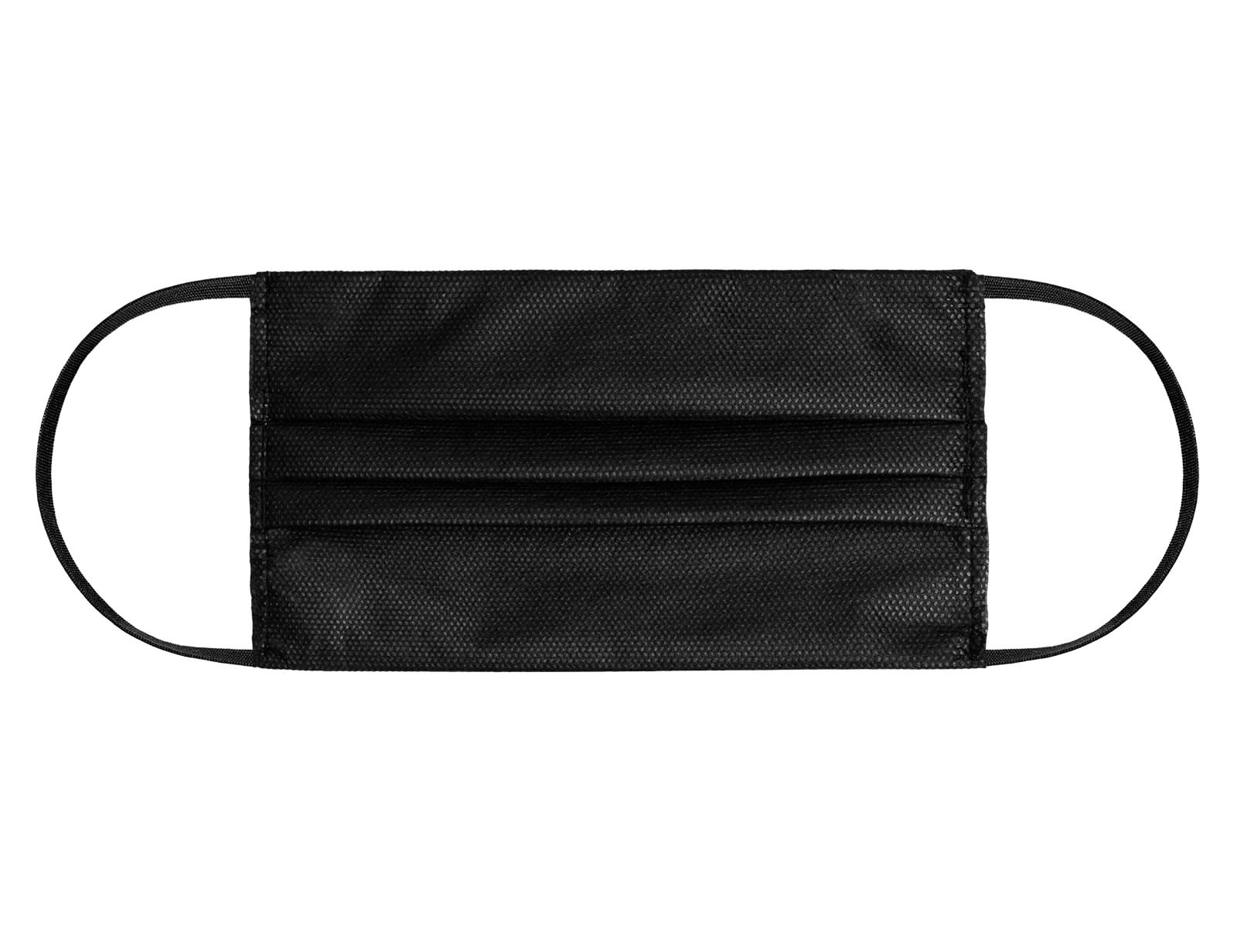 Rouška jednorázová Černá 50 ks