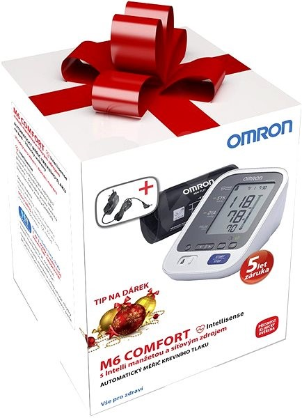 Vánoční balení tonometru M6 Comfort s Intelli manžetou + adaptér