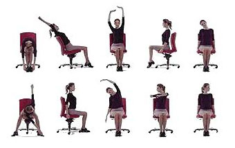 Cvičení s pomocí židle