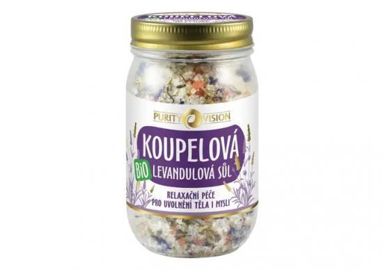 PURITY VISION Bio Levandulová koupelová sůl 400 g