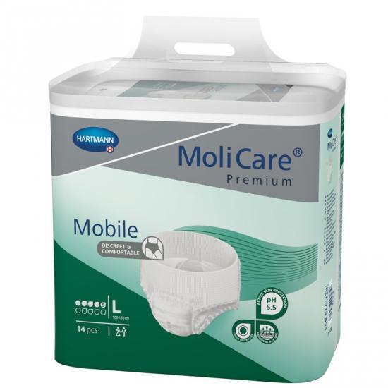 MoliCare Mobile 5 kap. L kalhotky navlékací 14 ks