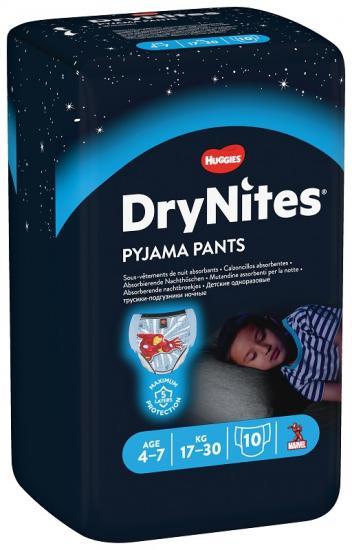 Huggies Dry Nites Medium Boys plenkové kalhotky 17-30kg 10ks