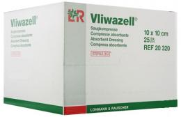 Vliwazell savá komprese sterilní 10x10cm, bal. 60ks