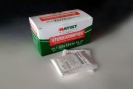 Sterilkompres sterilní 7,5cmx7,5cm, bal. 2ks