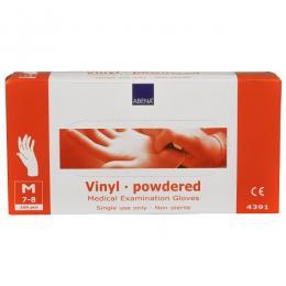 Abena vinylové rukavice s pudrem vel.M 100ks