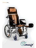 Invalidní vozík polohovací s pomocnou brzdou