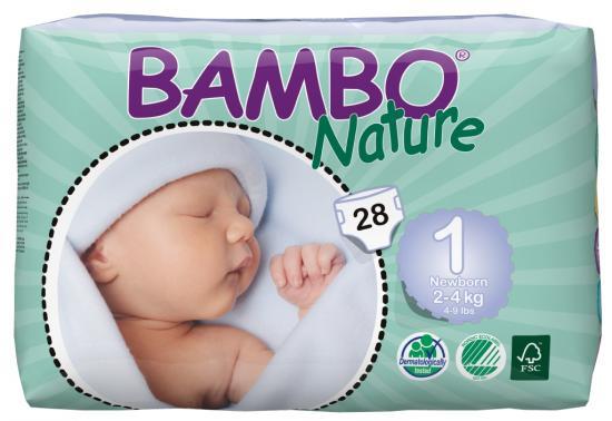 Bambo nature new born 2-4kg 28ks
