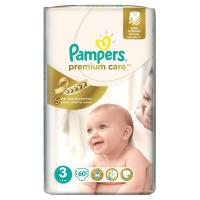PAMPERS Premium Care Midi 5-9kg 60ks