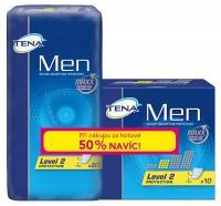 Tena Men level 2 vložky pro muže + 50% navíc, 30 ks