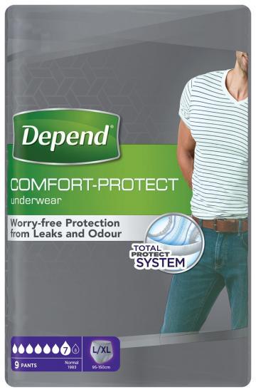 Depend Normal L/XL kalhotky navlékací pro muže 9 ks