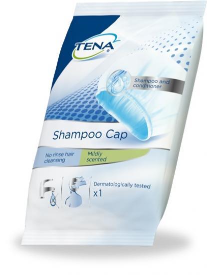 TENA Shampoo Cap Vlhčená mycí čepice