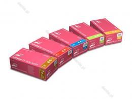Nitrylex rukavice PF Collagen bez pudru růžové vel. XL 100 ks