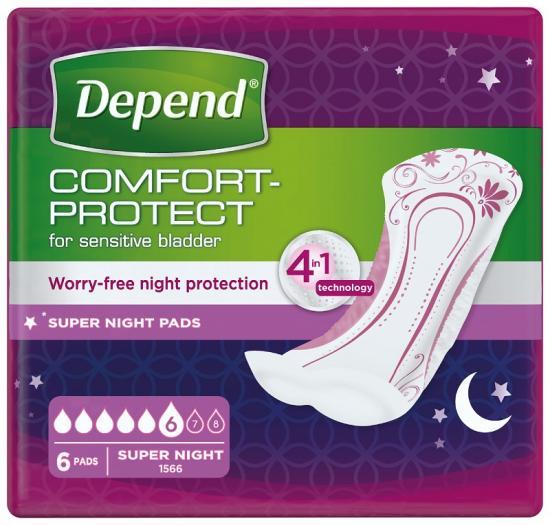 Depend Super Plus dámské vložky 6 ks