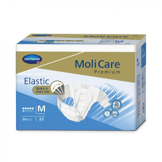 MoliCare Elastic 6 kapek M kalhotky zalepovací 30 ks