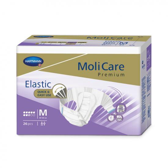 MoliCare Elastic 8 kapek M kalhotky zalepovací 26 ks