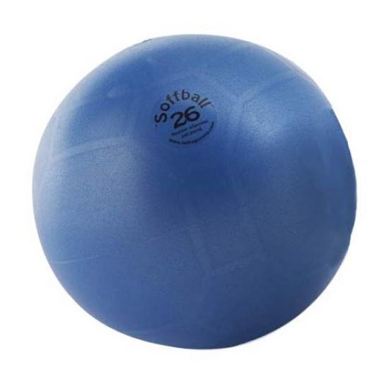 Soffball MAXAFE míč na cvičení 26 cm modrý
