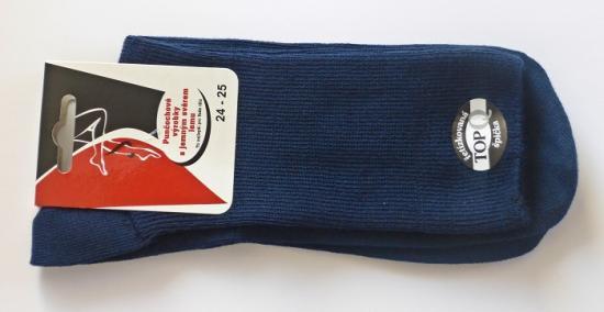 Zdravotní ponožky s jemným svěrem - barva modrá - poslední kusy