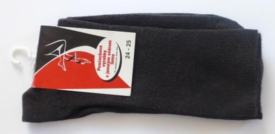 Zdravotní ponožky s jemným svěrem - barva hnědá - poslední kusy