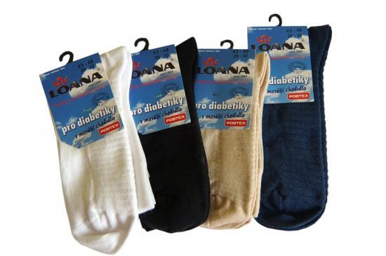 Ponožky pro diabetiky s masáží chodidla