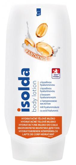 Isolda hydratační tělové mléko s kyselinou hyalurunovou a panthenolem 500ml