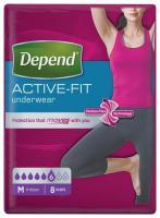 Depend Active-Fit M navlékací kalhotky pro ženy 8 ks