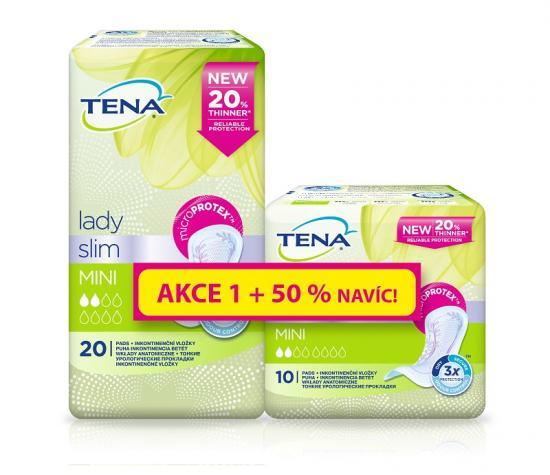 TENA Lady Slim Mini dámské vložky + 50% navíc, 30 ks