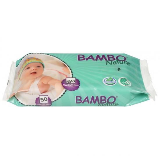 Bambo Nature vlhčené ubrousky 50 ks