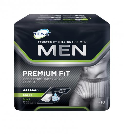TENA Men Level 4 Ochranné spodní prádlo Premium Fit Protective Underwear L 10 ks