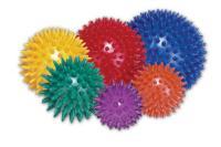 Masážní míček ježek žlutý 8 cm