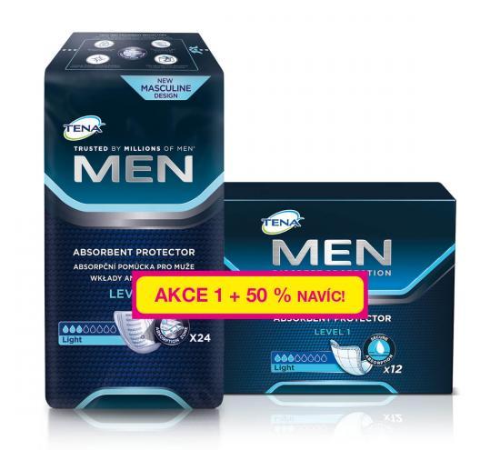 TENA Men Level 1, vložky pro muže + 50% navíc, 36 ks