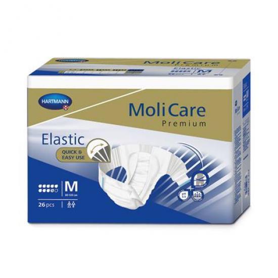 MoliCare Elastic 9 kapek M kalhotky zalepovací 26 ks