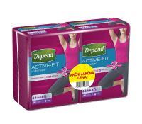 Depend Active-Fit M navlékací kalhotky pro ženy DUOPACK 2x8ks