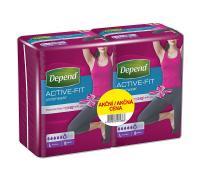 Depend Active-Fit L navlékací kalhotky pro ženy DUOPACK 2x8ks