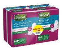 Depend Active-Fit Normal dámské vložky DUOPACK 2x12 ks