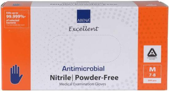 Rukavice ABENA antimikrobiální NITRIL M, nepudrované 200 ks