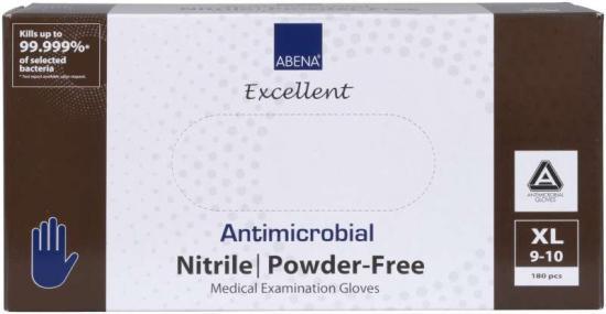 Rukavice ABENA antimikrobiální NITRIL XL, nepudrované 200 ks