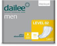 DAILEE Men Premium 2 Level vložky pro muže 14 ks