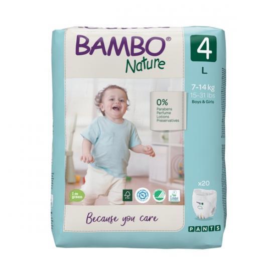 Bambo Nature Pants 4, 7-14 kg, 20 ks