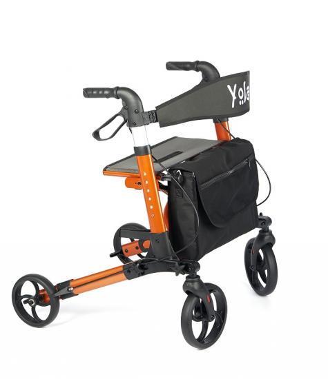 Chodítko čtyřkolové YOLA - oranžové
