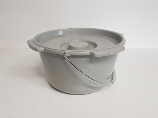 Nádoba toaletní plastová s víkem TIM003
