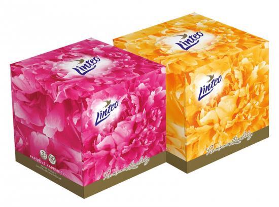 Linteo papírové kapesníky Premium BOX 3-vrstvé 60 ks