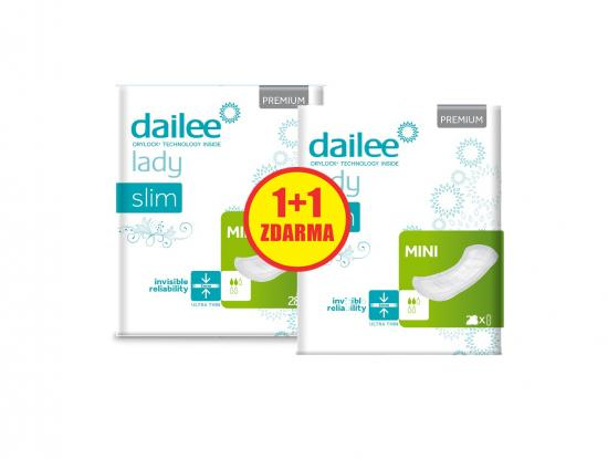 DAILEE 1+1 ZDARMA Lady Premium Slim Mini 28 + 28 ks