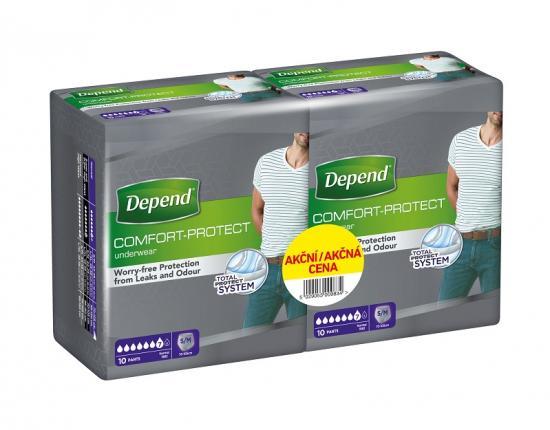 Depend Pants Comfort navlékací kalhotky pro muže S/M 10+10 ks DUOPACK
