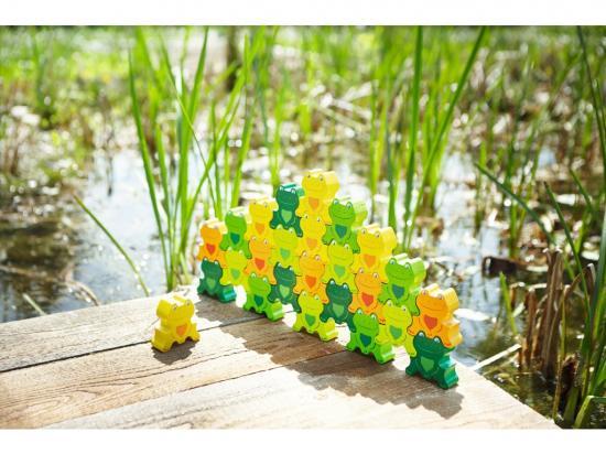 Parkety Veselé žáby 3D 25 ks
