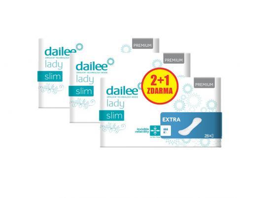 DAILEE 2+1 ZDARMA Lady Premium Slim Extra 56 + 28 ks
