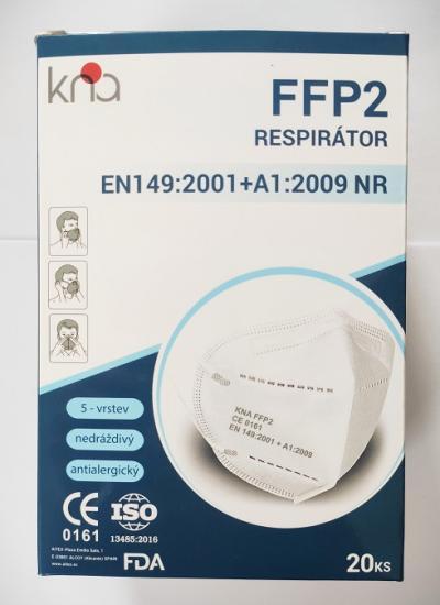 Respirátor FFP2 KNA, á 20ks