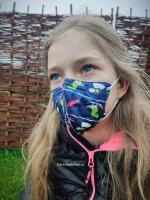 Dětský respirátor FFP2 Balerina 4vrstvý - dráčci (vzor 47)