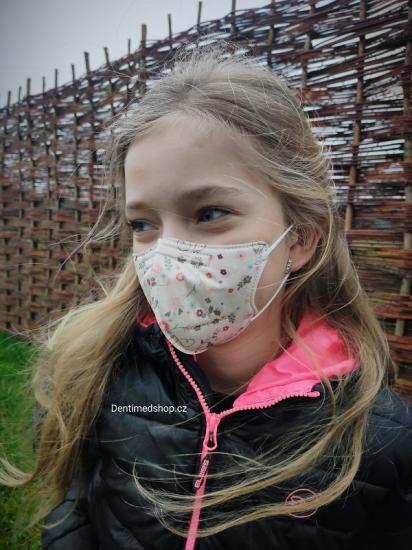 Dětský respirátor FFP2 Balerina 4vrstvý - veverka (vzor 183)